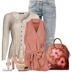Sleeveless Top or Sweater with a Cardigan, created by lbite1 on Polyvore