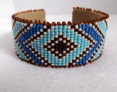 bead loomed cuff - Google Search