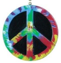 Peace Symbol Ceiling Fan Light Pull Approximately 2 inches 3D resin Attached 6-inch 18k-gold plated chain and connector