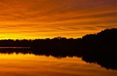 On reflection; Churn Creek, Chesapeake Bay; Worton, Maryland, USA.  October 2013.