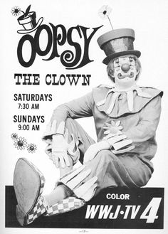 Another glimpse into my Detroit childhood.  Surprisingly I was not afraid of clowns.  I remember my parents taking me to see him at personal appearances several times.  I know they've got multiple slides of various visits.