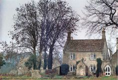 """The schoolmaster's house in a small Cotswold village is a curious blend of 17th-century vernacular building and medieval Gothic opulence."" from ""English Cottage Interiors by Hugh Lander & Peter Rauter"