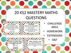 20 MATHS MASTERY CHALLENGES KS2