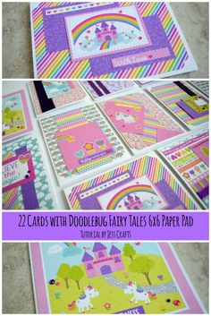 22 Cards using Doodlebug Fairy Tale by Jess Crafts #doodlebug (scheduled via http://www.tailwindapp.com?utm_source=pinterest&utm_medium=twpin&utm_content=post180796693&utm_campaign=scheduler_attribution)