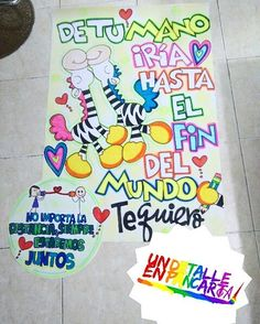 Imagen relacionada Ideas Aniversario, Burdge, Fathers Day, Graffiti, Diy And Crafts, Banner, Lily, Kawaii, Relationship
