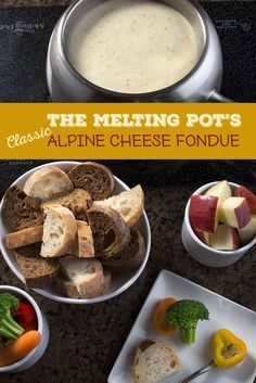 Make The Melting Pot's ooey gooey classic alpine cheese fondue at home The Melting Pot, Fondue Recipe Melting Pot, Melting Pot Recipes, Cheese Recipes, Appetizer Recipes, Cooking Recipes, Appetizers, Kabob Recipes, Beef Recipes