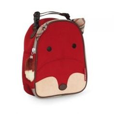 Fox Zoo Lunch Box from #skiphop - With friendly faces and matching zipper-pulls, Zoo Lunchies make lunchtime fun time! Sized just right for little kids or a mom and baby on-the-go, these soft bags have a roomy main compartment that holds sandwiches, snacks, drinks and more.