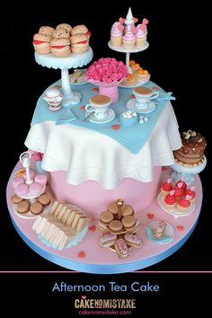 Cake No Mistake! Cakes, cupcakes & cake decorating classes in Tiptree, Essex. Afternoon Tea Birthday Cake, Afternoon Tea Cakes, Pretty Cakes, Cute Cakes, Yummy Cakes, Cute Birthday Cakes, Beautiful Birthday Cakes, Crazy Cakes, Fancy Cakes