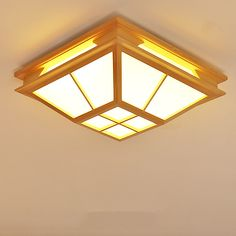 Modern Interior Japanese Ceiling Lights Washitsu Ceiling Decoration Lamp Wood and Paper Hallway Indoor Japanese Lamp Lighting