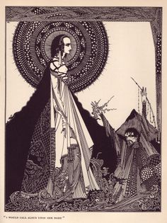 Tales of Mystery and Imagination by Poe, illustrated by Harry Clarke. Ligeia.