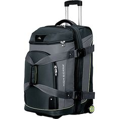 Sierra-Lite Drop Bottom Wheeled Duffel is three bags in one! Use it as a wheeled upright, a duffel, or as a backpack Travel Luggage, Travel Bags, Travel Packing, Designer Luggage, Backpack With Wheels, Skate Style, Duffel Bag, Handbag Accessories, Shoe Boots