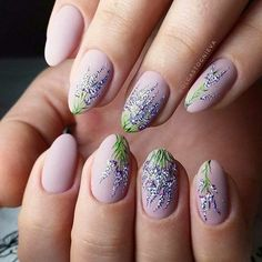 nail art été lavande