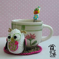 Ravelry: Owl coaster pattern by Vendula Maderska