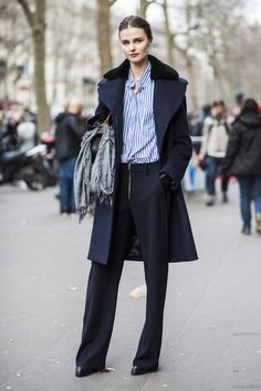 hey that's my coat! #VasilisaPavlova looking tres chic in Acne #offduty in Paris.