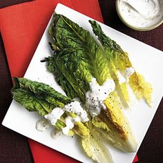 Grilled Romaine with Creamy Herb Dressing | MyRecipes.com