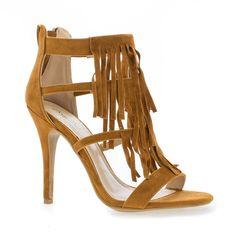 07e19abd449 Girltalk01 Pleaded Fringe Open Toe Stiletto Heel Dress Sandals Dress And  Heels