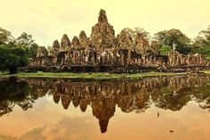 The lost city of Angkor Thom is now part on Angkor Archaeological Park.  Built in the late 12th century, it was the final capital of the Khmer empire.    50 Things to Do in Asia Before You Die : Condé Nast Traveler