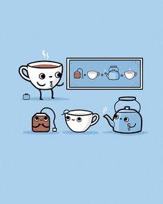 Tea-cher by randyotter on DeviantArt Tee Illustration, Tee Kunst, Tea Quotes, Coffee Images, Cuppa Tea, Tea Strainer, Tea Art, Humor Grafico, My Cup Of Tea