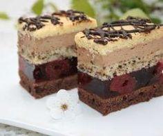 Cherry cake with caramel cream - recipe Yummy Recipes, Cream Recipes, Sweet Recipes, Cake Recipes, Dessert Recipes, Cooking Recipes, Yummy Food, Polish Desserts, Fancy Desserts