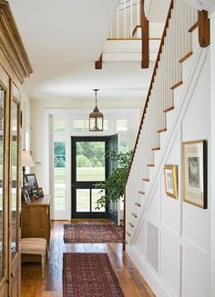 Traditional Entry Hall: Happy Choice Farmhouse in Maryland