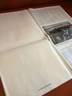 """Today, for the first time ever, The New York Times featured two seemingly blank pages in their A (Main News) section. 
