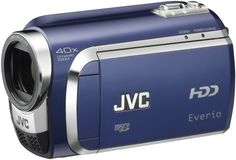 JVC Everio GZ-MG630 60GB Standard Def Camcorder (Blue) 60 GB HDD for up to 75 hours of recording. 40x Dynamic Zoom with Konica Minolta lens. Laser-touch operation with sub-trigger and zoom. One-touch upload to YouTube. Digest Playback; Auto Illumi. Light.  #JVC #Photography
