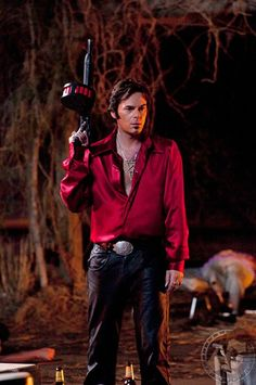 """I created this silk charmeuse shirt for actor Billy Burke in """"Drive Angry""""."""