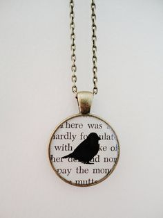 Pride and Prejudice book art pendant necklace