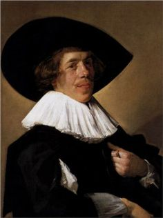 Portrait of a Man - Frans Hals. Hals was so ahead of his time. About 200 years or so. This was painted when things were rendered in a very detailed way, very stiff, and here comes Frans Halls with his brushstrokes and casual poses.
