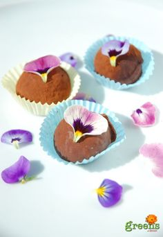 truffles with edible flowers