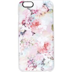 Casetify Romantic Chic Floral iPhone 6 / 6s Case ($40) ❤ liked on Polyvore featuring accessories, tech accessories, phone cases, phones, technology, clear multi, iphone case, floral iphone case, clear iphone cases and iphone hard case