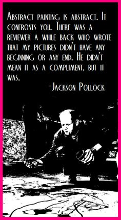Jackson Pollock with an abstract on the abstract...
