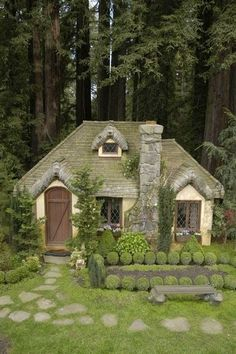 Look at the natural green on the roof. Pretty color to use on our home to mimic nature and its beauty. ~Bonnie Cottage!!