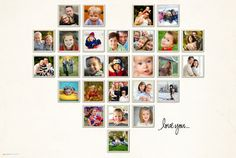 Heart- Beautiful way to display photos!