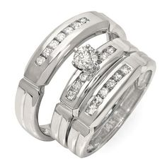 Walmart No Credit Check Financing >> 17 Best Trio #Engagement / #Wedding #Ring Set ~ #Capri # ...