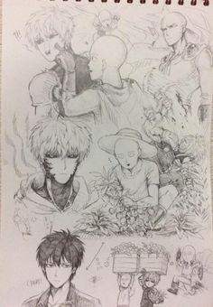 [One Punch Man] Saitama & Genos - Drawing