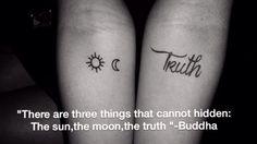 The sun,the moon,the truth . #tattoo #sun #moon #truth