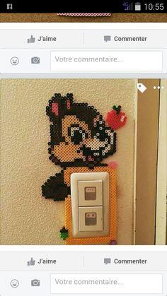 Perler beads light switch frame