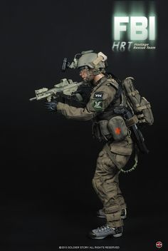 "Soldier Story 1/6 scale FBI counter-terrorism HRT Hostage Rescue Team 12"" figure"