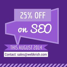 Grab Our #SEO Offer Today!! Valid for the month of August only which will continue with the same for next billing cycles.