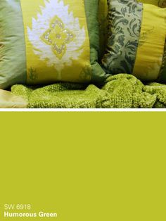 Sherwin-Williams paint color from the Unrestrained collection - Humorous Green (SW 6918)