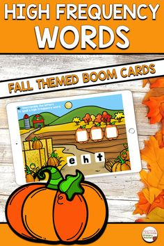These digital Boom Cards make practicing high frequency words fun for emergent readers! Students will unscramble the words by dragging and dropping them into the correct order to spell beginning high frequency or sight words. Great for literacy centers, distance learning, and more! Includes a fun fall theme with apples and pumpkins! Fun Classroom Activities, Sight Word Activities, Halloween Activities, Autumn Activities, Teaching Resources, Teaching Ideas, High Frequency Words, Emergent Readers, Sight Words