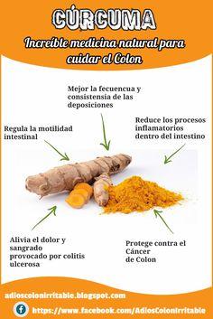 5 beneficios de la Cúrcuma como medicina natural para cuidar el Colon
