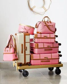 Shop Women's Bric's size OS Travel Bags at a discounted price at Poshmark. Description: More pictures of Bric's luggage! Pink Luggage, Cute Luggage, Luggage Sets, Travel Luggage, Travel Bags, Luxury Luggage, Airport Luggage, Pink Suitcase, Vintage Luggage