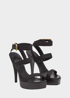 f9a8f8c6a62d Versace Medusa Leaves High Heel Sandals for Women