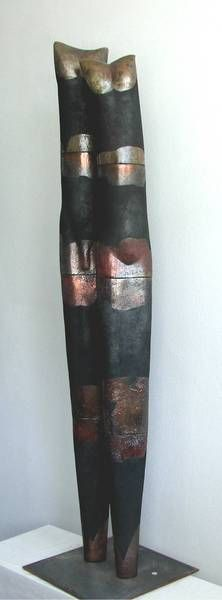 """Stele"", 2008, Sculpture, Terracotta"