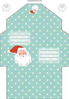 Шаблоны конвертов – 1 149 фотографий How To Make An Envelope, Diy Envelope, Christmas Colors, Christmas Diy, Christmas Cards, Envelopes Decorados, Free Printable Santa Letters, Stationary Printable, Diy And Crafts