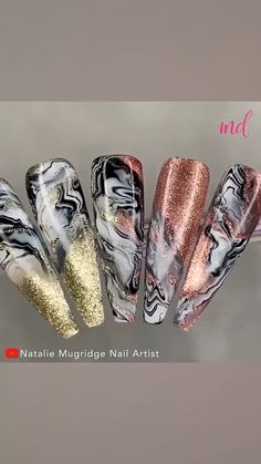 Nail Art Stripes, Pink Nail Art, Glitter Nail Art, Cute Summer Nail Designs, Cute Summer Nails, Nail Art Designs Videos, Magic Nails, Coffin Nails Long, Pretty Nail Art