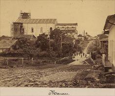 VISTA URBANA DE MANAUS Vista urbana da cidade de Manaus.  Álbum Vistas de Manaus.  Foto: Albert Frisch. 1865. Fonte: Brasiliana Fotográfica.