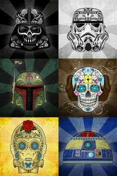 love these star wars sugar skulls